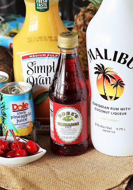 Malibu Sunrise Cocktail Ingredients Image