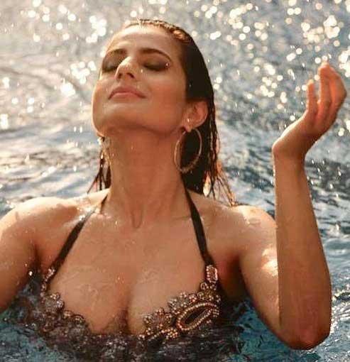 ameesha patel hot cleavage, ameesha patel