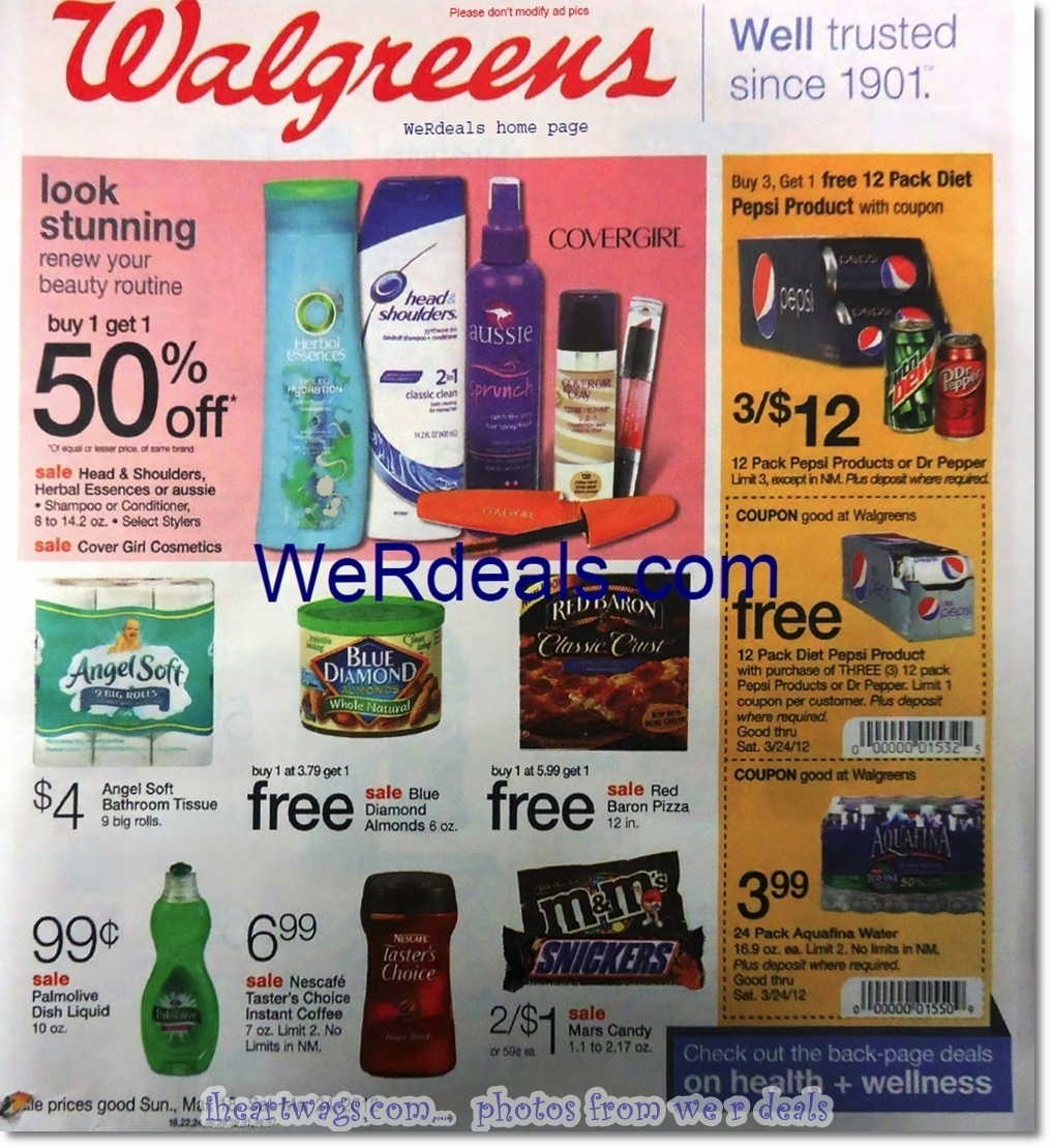 Walgreens Ad Preview 3/18 – 3/24