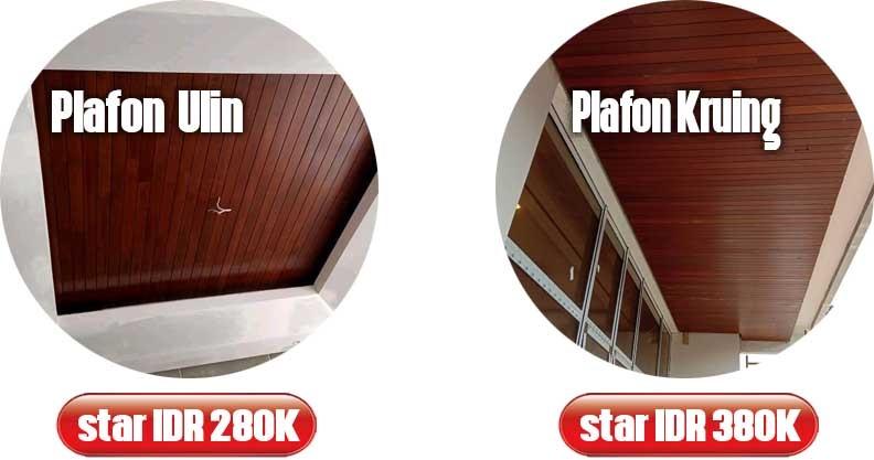 harga lantai kayu plafon