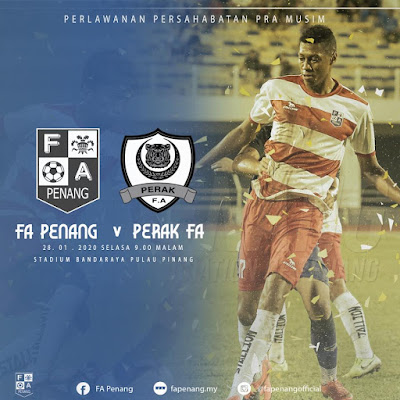 Live Streaming Pulau Pinang vs Perak 28.1.2020