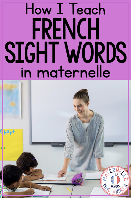 Les mots fréquents (French sight words) are CRUCIAL for our early elementary students to learn, whether in French immersion or a francophone school setting. These words are seen over and over again in their texts, but often can't be decoded and must be memorized. How can you help your students memorize these often-tricky words so they can free up more brain space for learning new words? Check out this blog post to find out!