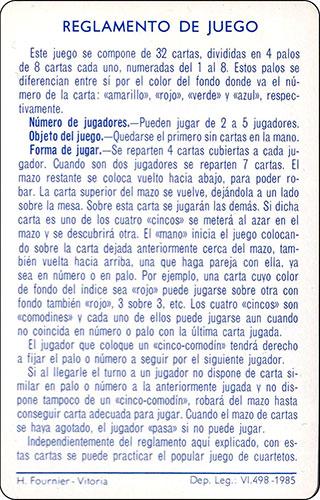Baraja Dragones y mazmorras Heraclio Fournier Carta Reglamento 2