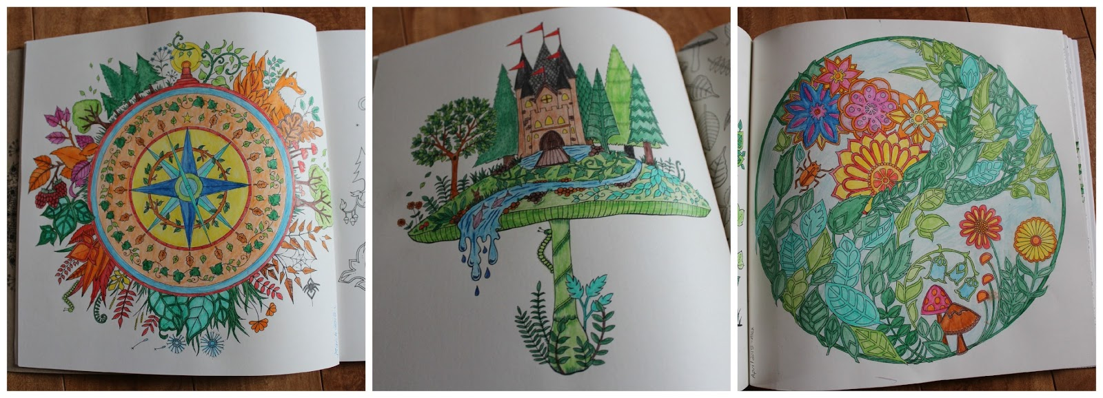A Few Completed Pages From Enchanted Forest
