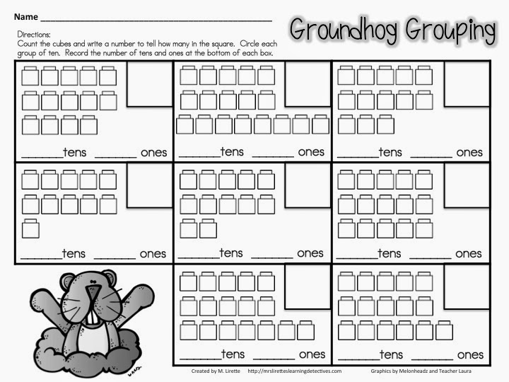 Number Names Worksheets place value tens and ones worksheet : Classroom Freebies: Groundhog Grouping! Place Value Practice for ...