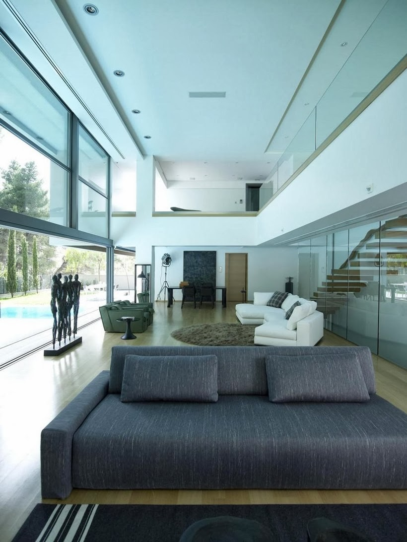 Living room in Modern Mansion in Dionysos