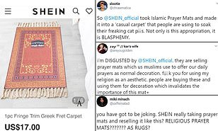 Online retailer is slammed for selling Islamic prayer mats as ornamental pieces [reactions and photos]