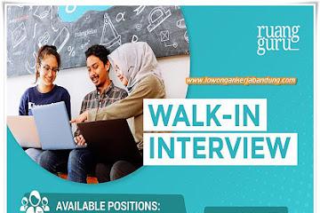 Lowongan Kerja Pengajar & Content Production Ruang Guru