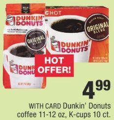 Dunkin Donuts Coffee CVS Deal 12/8-12/14