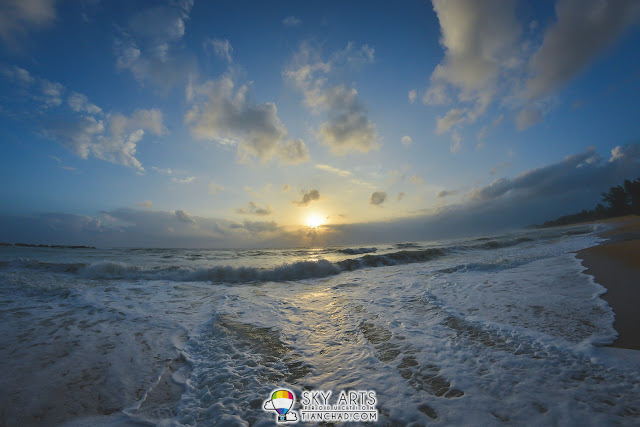 Beautiful sunrise at Tanjong Jara beach