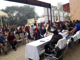 सम्पूर्ण समाधान दिवस आयोजित, 102 शिकायतों में 10 का हुआ निस्तारण | #NayaSaberaNetwork