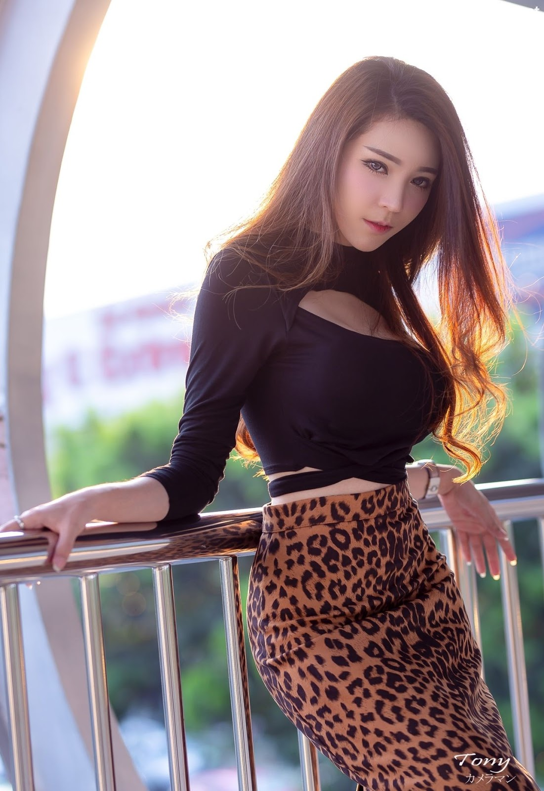 Image-Thailand-Hot-Model-Janet-Kanokwan-Saesim-Sexy-In-Black-And-Leopard-Fabric-TruePic.net- Picture-4