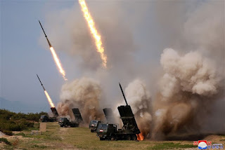 North Korean leader Kim conduct testing of multiple rocket launchers