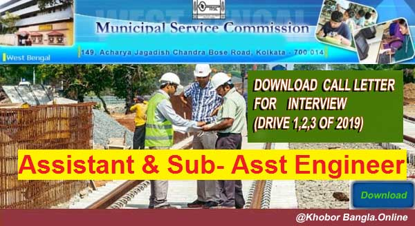 West Bengal Municipal Service Commission  Interview Call Letter Download