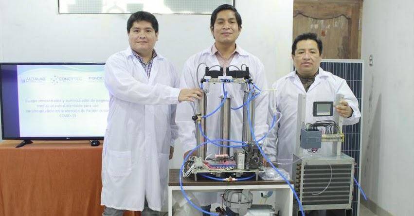 Investigadores peruanos desarrollan concentrador de oxígeno de bajo costo para pacientes graves con el Covid-19