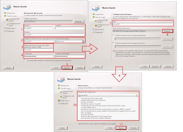 Seleccionaremos la base de datos de nuestro servidor Microsoft Exchange 2007.