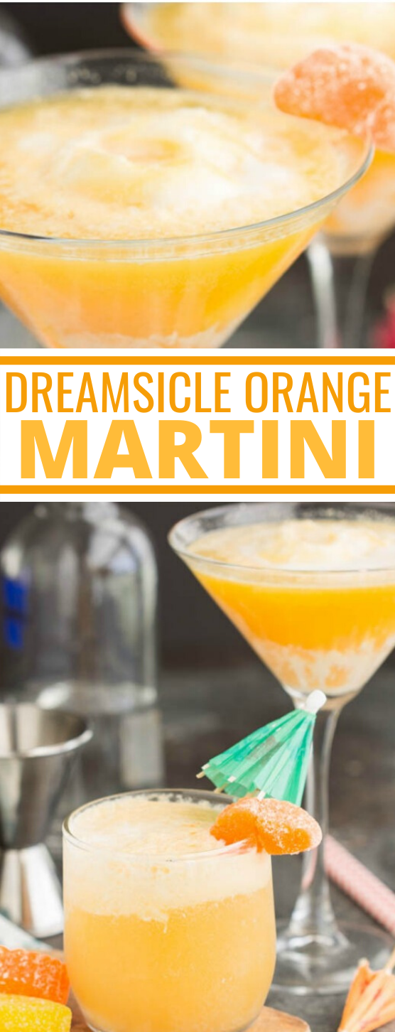 Dreamsicle Martini Recipe #drink #cocktails #party #beverages #recipe