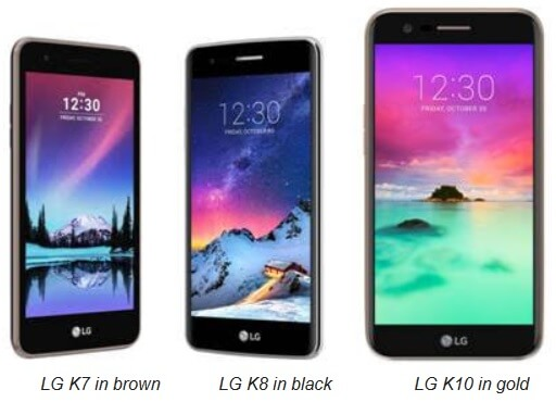 LG K 2017 Series Now Available; Namely K7, K8 and K10