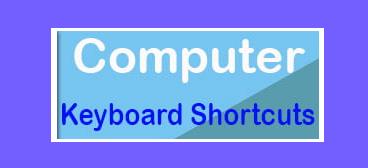 Basic Computer Shortcut keys
