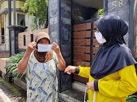 Malang Masih Zona Merah Corona, Garda Pancasila Bagikan Masker Gratis dan Siaga Penyemprotan Disinfektan
