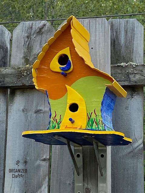 Photo of a unique birdhouse
