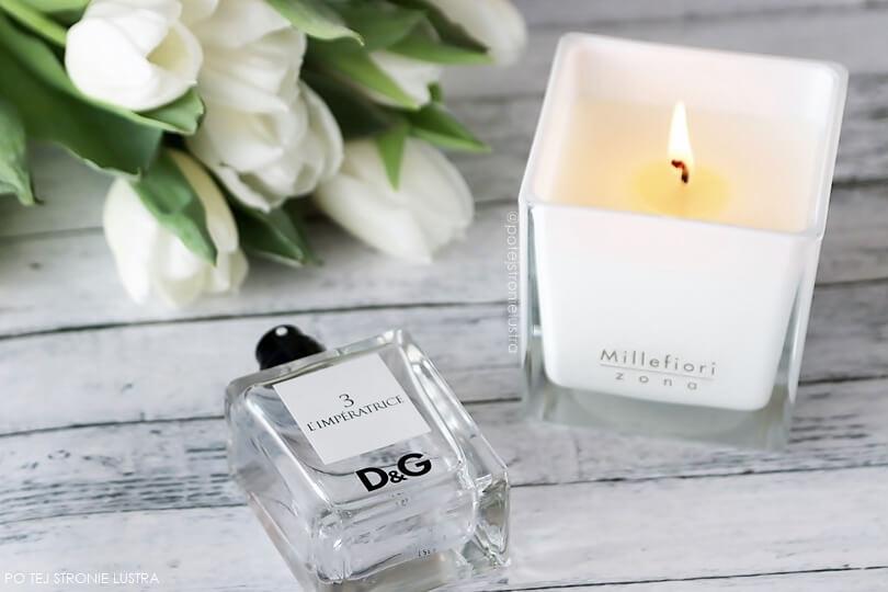 zapach na wiosnę perfumy i świeca