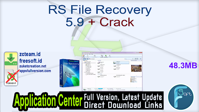 RS File Recovery 5.9 + Crack_ ZcTeam.id