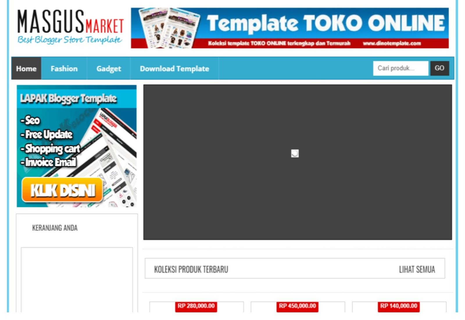 Masgus Market E-commerce Blogger Template
