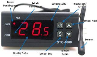 Cara kerja thermostat digital STC 1000