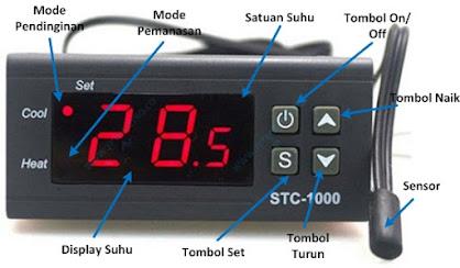 setting suhu pada thermometer digital untuk pendingin dan pemanas