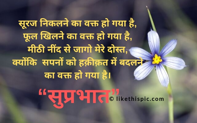 good morning msg for gf in hindi