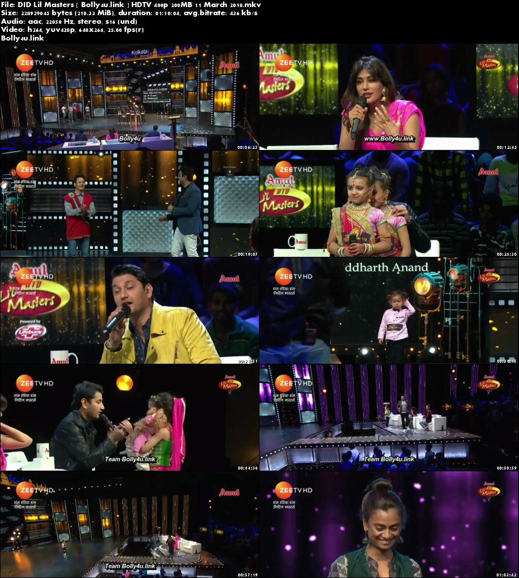 DID Lil Masters HDTV 480p 200MB 11 March 2018 Download