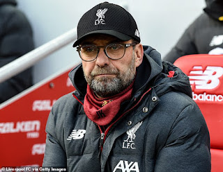 Alan Shearer criticises Klopp for his touchline absence