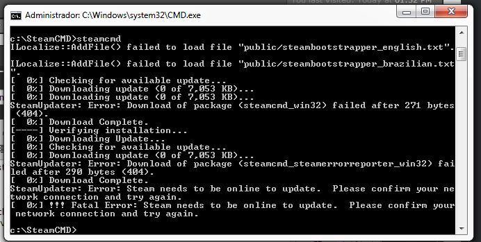 SteamCMD keeps closing itself - Tripwire Interactive Forums