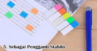Sebagai Pengganti Stabilo merupakan salah satu manfaat sticky note
