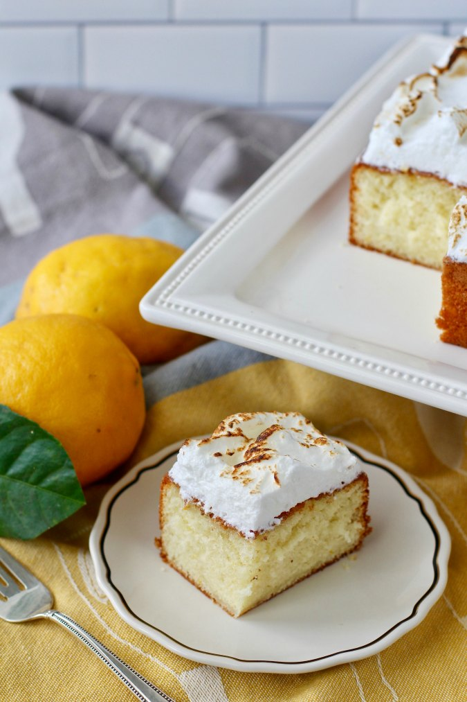 Limoncello & Toasted Meringue Cake slice