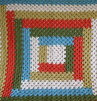http://www.ravelry.com/patterns/library/grannys-baby-log-cabin-blanket