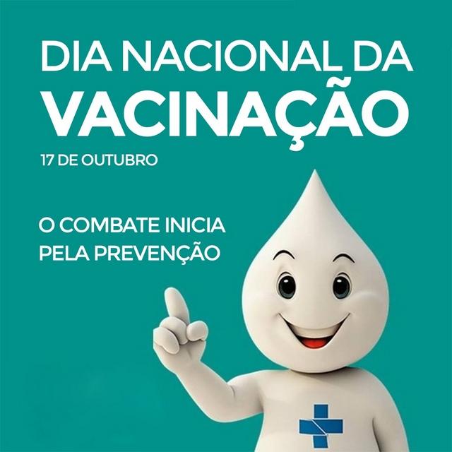 17 de outubro Dia Nacional da Vacinação