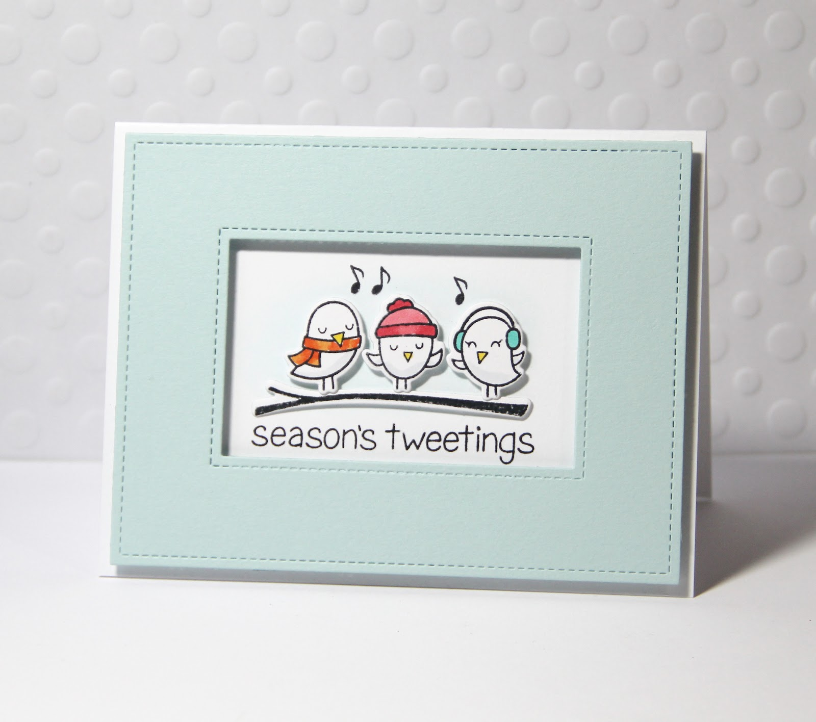 Amusing michelle this year is going to be all about singing sparrows as i send out my very late christmas cards m4hsunfo