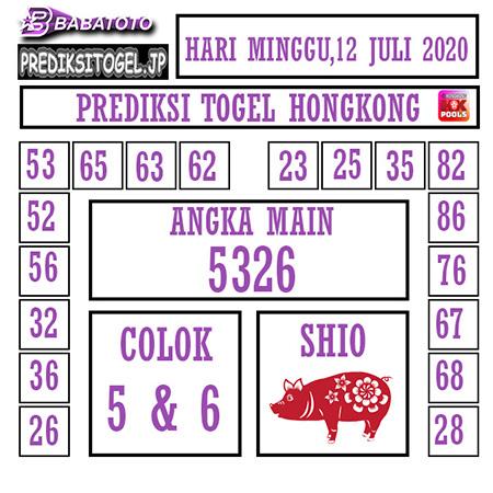 Prediksi Togel Babatoto Hongkong HK Minggu 12 Juli 2020