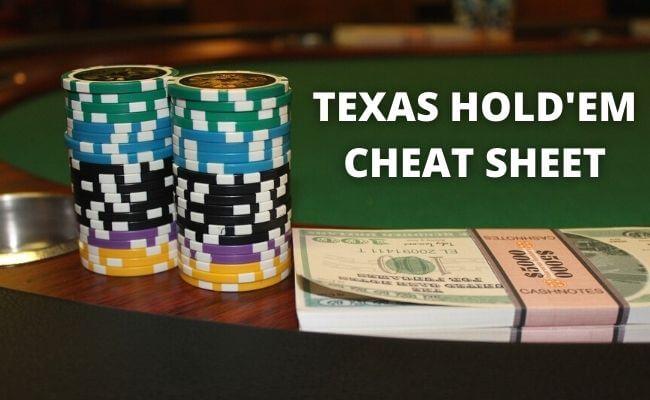 Texas Holdem Poker Cheat Sheet