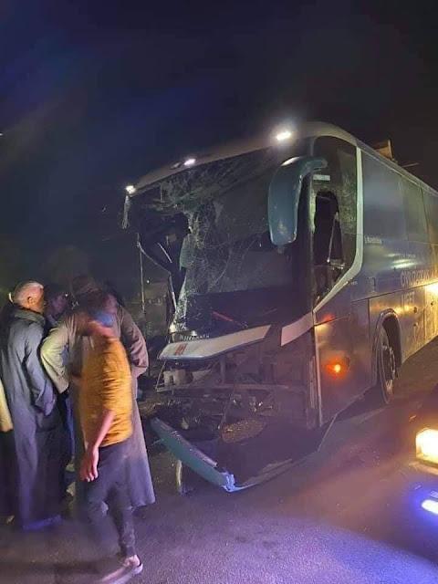 مصرع 6 شخصا وإصابة اخرين في حادث تصادم بدار السلام في سوهاج