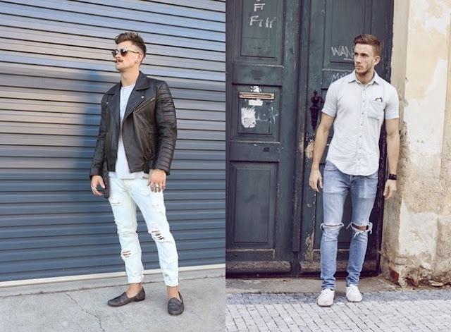 como usar calça jeans destroy