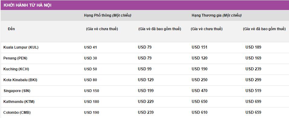 Giá vé khuyến mãi giữa năm từ Malindo Air bay từ hà nội