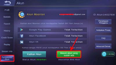 Cara Berganti Akun Mobile Legends Dengan Akun Moonton 14