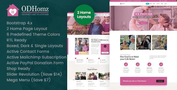 Best Senior Care Responsive Website Theme