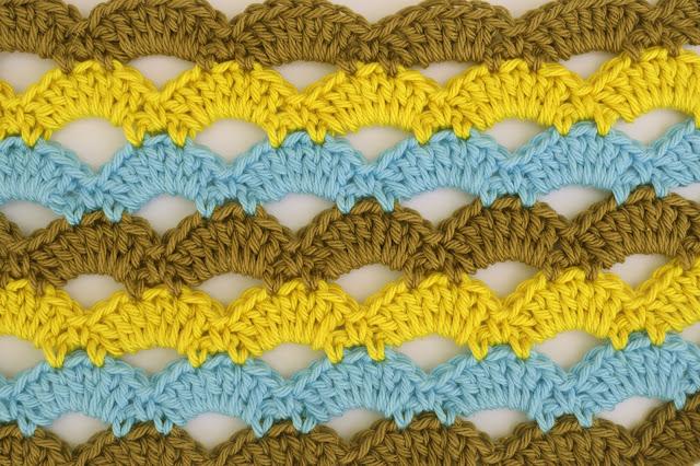 6 - Crochet Imagen Puntada de abanicos a crochet para blusas por Majovel Crochet