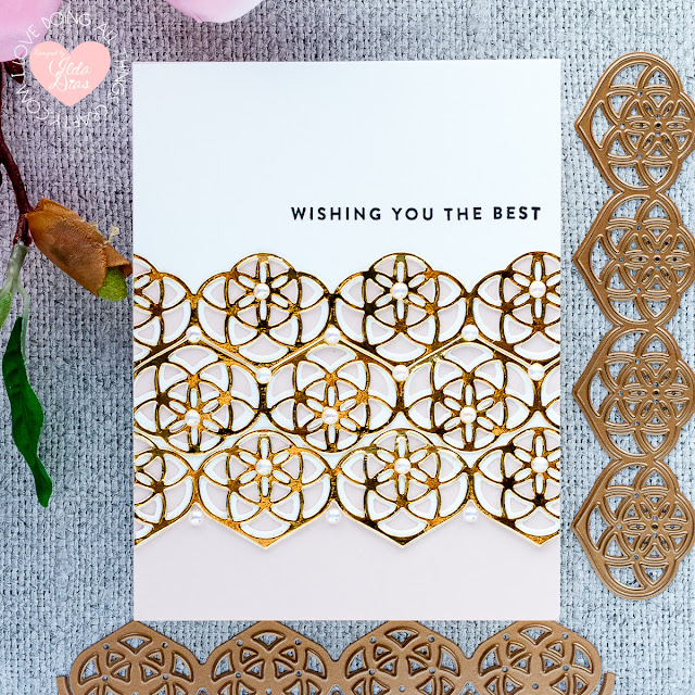 Elegant Kaleidoscope Strips and Borders Card Set | December 2019 Large Die of the Month | Spellbinders by ilovedoingallthingscrafty.com