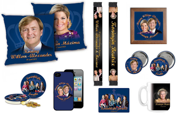 Souvenirs for the upcoming abdication and inauguration on the 30th of april.