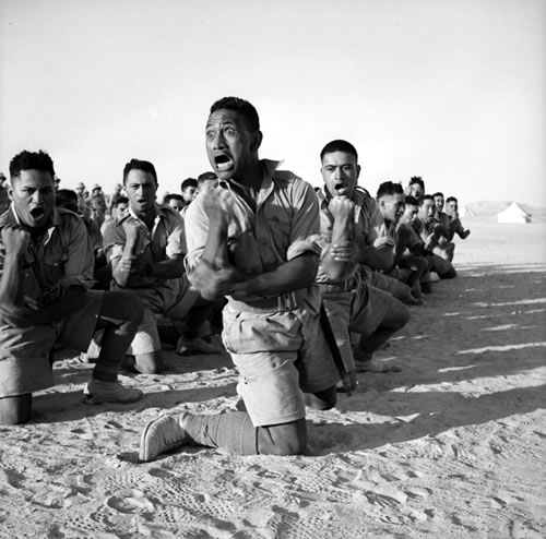 WW2 Maori Battalion training exercise in Egypt